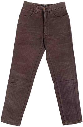 Fendi Burgundy Denim - Jeans Jeans