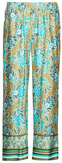 Cream BAHIA women's Trousers in Green