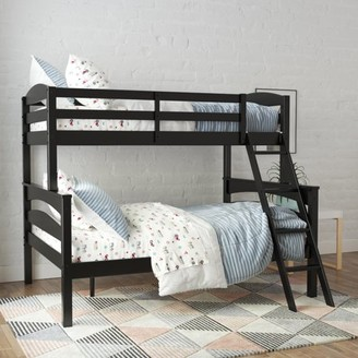 Better Homes & Gardens Leighton Wood Twin-Over-Full Bunk Bed, Black