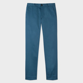 Paul Smith Men's Slim-Fit Petrol Blue Stretch-Cotton Chinos