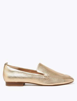 Marks and Spencer Leather Soft Square Toe Loafers