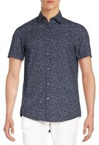 Report Collection Regular-Fit Floral-Print Cotton Sportshirt