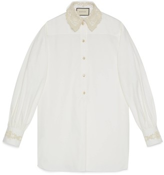 Gucci Oversize shirt with detachable collar