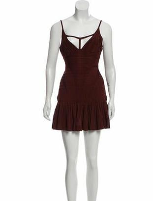 Herve Leger Sleeveless Bandage Mini Dress