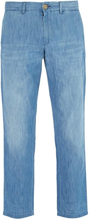 Gucci Cotton-denim chino trousers