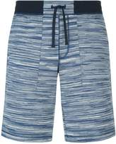 Missoni Striped Cotton Shorts, Navy, M