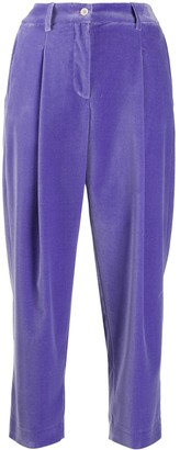 Jejia Cropped Velvet Trousers