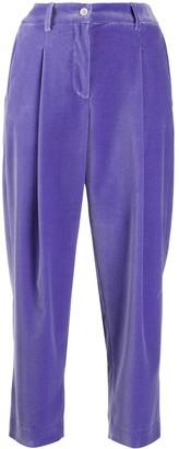 Jejia cropped velvet trousers