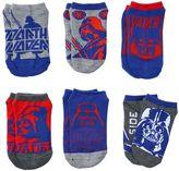 Star Wars Boys 8-20 6-Pack Darth Vader Ankle Socks