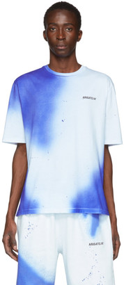Axel Arigato White and Blue Spray Paint T-Shirt