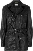 Saint Laurent belted leather coat - women - Lamb Skin - 40
