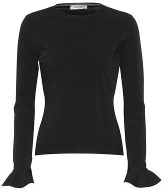 Valentino Ruffle-trimmed sweater