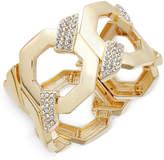 INC International Concepts Gold-Tone Pavé Large Link Stretch Bracelet, Created for Macy's