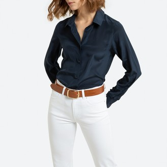 La Redoute Collections Silk Long-Sleeved Shirt
