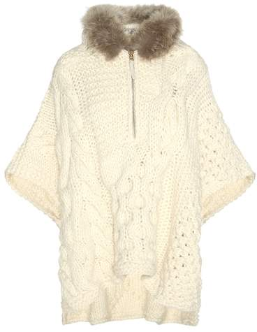 Woolrich Wool and alpaca-blend sweater with fur