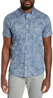 Ted Baker Eraser Slim Fit Short Sleeve Hawaiian Shirt