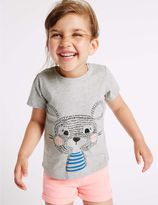 Marks and Spencer Cotton Rich Printed Top (3 Months - 5 Years)