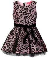 Betsey Johnson Animal Print Chiffon Dress (Toddler Girls)