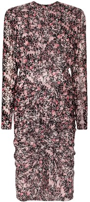 Giambattista Valli Ruffled Floral-Print Silk Dress