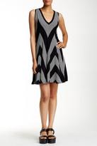 Max Studio Mitered Knit Fit & Flare Dress