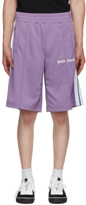 Palm Angels Purple Classic Track Shorts