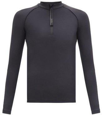 Vaara Helena Zipped-neck Stretch-jersey Top - Black