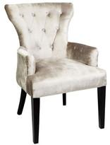 Ella Diamond Arm Chair in Champagne