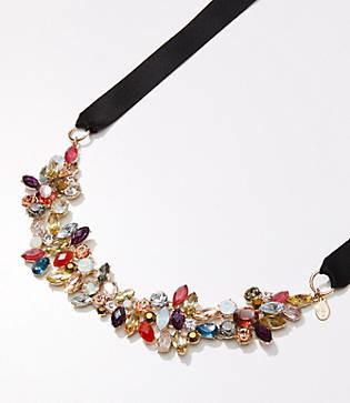 LOFT Multicolored Ribbon Necklace