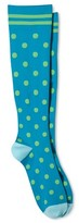 Skinergy Women's Mild Compression Knee High Socks - Polka Dot - Turquoise One Size Fits Most