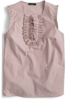 J.Crew Margot Stripe Cotton Top (Regular & Petite)