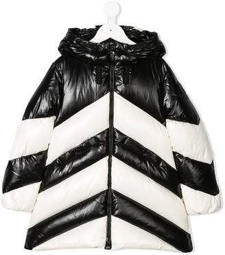 Moncler Enfant Monochrome Chevron Padded Coat
