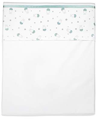 Camilla And Marc Nijntje 1 Sheet for Pram or Cot (75 x 100 cm Green