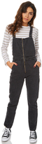 Rollas Dusters Womens Denim Overalls Black