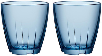 Kosta Boda Set of 2 Bruk Short Tumblers - Blue