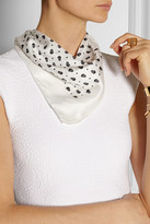 Alexander McQueen Skull-print silk-twill scarf