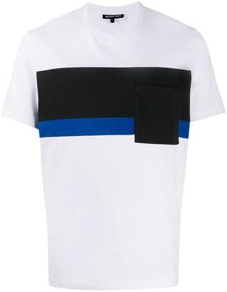 Michael Kors striped panel T-shirt