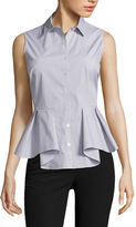 WORTHINGTON Worthington Sleeveless Button-Front Shirt