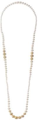 Yoko London Ombre Golden South Sea and Akoya pearl necklace
