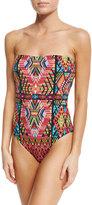 Nanette Lepore Mosaic Bandeau One-Piece Swimsuit