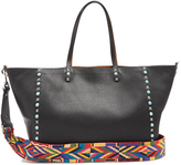 Valentino Rockstud Rolling reversible grained-leather tote