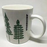 Starbucks 2015 Holiday Green and White Tree 12-Ounce Mug/Cup