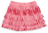 Flapdoodles Girls 2-6x Sueded Fringe Skirt