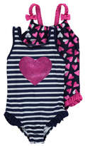 George 2 Pack Heart Print Swimsuits