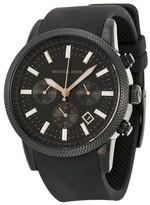 Michael Kors MK8317 Scout Black Dial Silicone Strap Chronograph Men