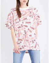 Maison Margiela Fragile-print cotton-jersey T-shirt