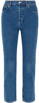 Balenciaga Genuine Cropped High-rise Straight-leg Jeans - Mid denim