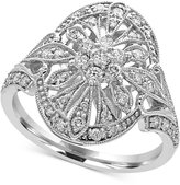 Effy Pavé Classica by Diamond Deco Ring (1/2 ct. t.w.) in 14k White Gold