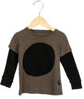 Nununu Boys' Long Sleeve Two-Tone T-Shirt
