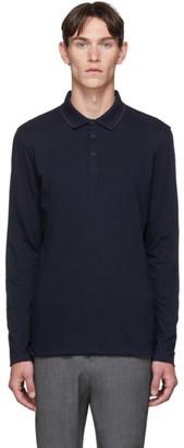 BOSS Black and Purple Long Sleeve Polo