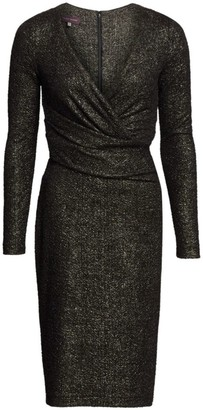 Talbot Runhof Metallic Crossover Dress